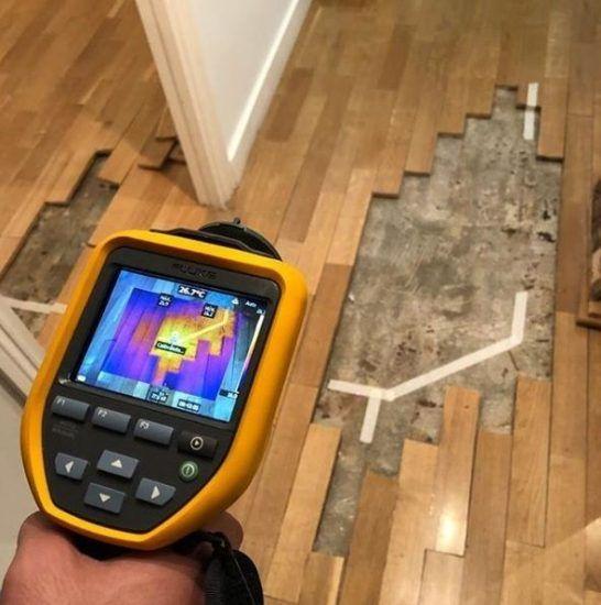 Detección de humedades con termografía