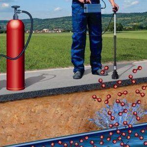 Detectar fugas de agua con gas trazador